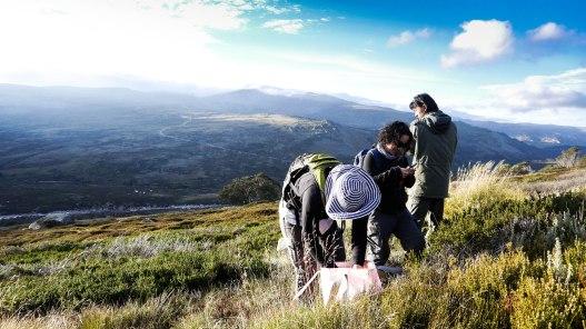 Fieldwork near Charlotte's Pass, Mt Kosciuszko