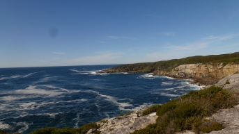 Cliff top coastal study site, Jervis Bay, NSW